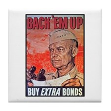 Eisenhower Back Em Up Tile Coaster