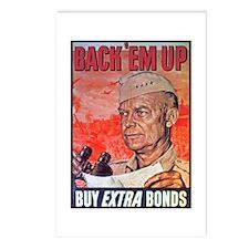 Eisenhower Back Em Up Postcards (Package of 8)