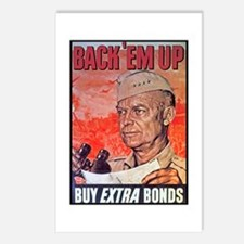 Eisenhower Back Em Up Postcards (Package of 8)