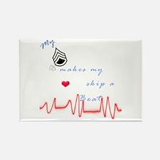 My SSG, Heart Skip A Beat Rectangle Magnet