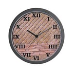 Roman Brick Wall Clock