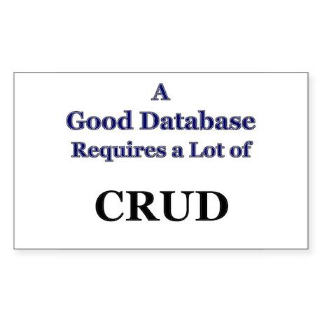 """CRUD"" Rectangle Sticker"