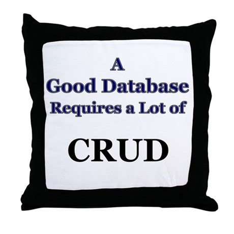 """CRUD"" Throw Pillow"
