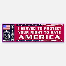 SMSgt Veteran Bumper Bumper Bumper Sticker