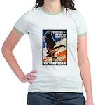 Victory Eagle Poster Art (Front) Jr. Ringer T-Shir