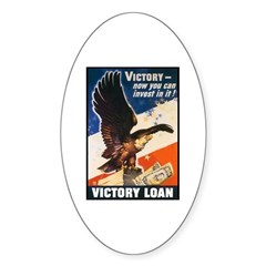 Victory Eagle Poster Art Oval Decal