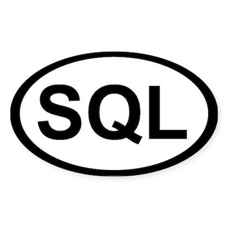 SQL Oval Sticker
