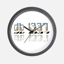 """db l337"" Wall Clock"