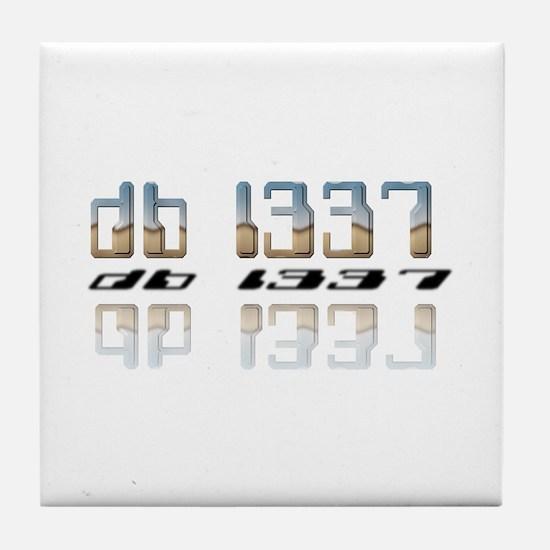 """""""db l337"""" Tile Coaster"""