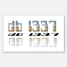 """""""db l337"""" Rectangle Decal"""