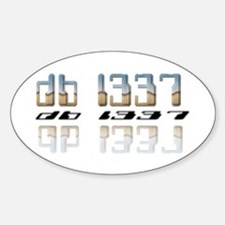"""db l337"" Oval Decal"