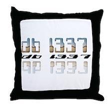 """""""db l337"""" Throw Pillow"""