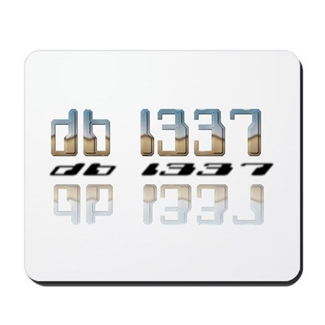 """db l337"" Mousepad"