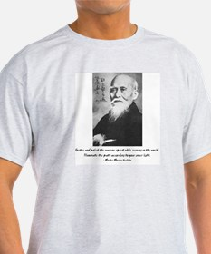 Morihei Ueshiba quote 2 Ash Grey T-Shirt