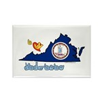 ILY Virginia Rectangle Magnet (100 pack)