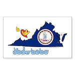 ILY Virginia Sticker (Rectangle 10 pk)