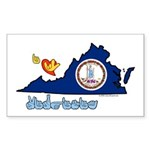 ILY Virginia Sticker (Rectangle 50 pk)