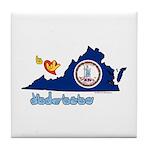 ILY Virginia Tile Coaster