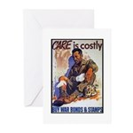 Care is Costly Poster Art Greeting Cards (Package