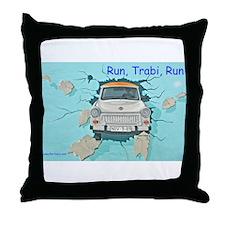 Run, Trabi, Run Throw Pillow