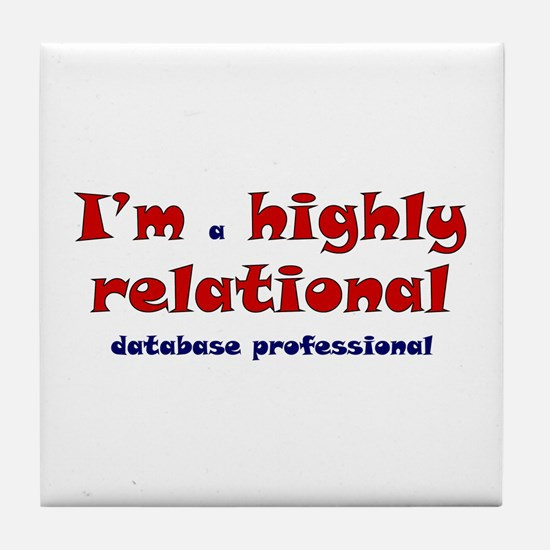 """""""Highly Relational"""" Tile Coaster"""