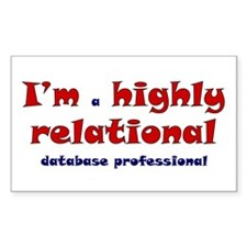 """Highly Relational"" Rectangle Decal"
