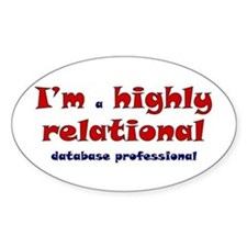 """Highly Relational"" Oval Decal"