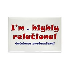 """Highly Relational"" Rectangle Magnet"