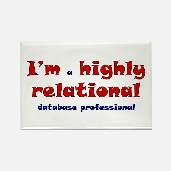 """""""Highly Relational"""" Rectangle Magnet"""