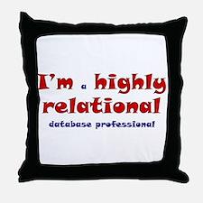 """Highly Relational"" Throw Pillow"