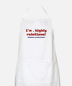 """Highly Relational"" BBQ Apron"