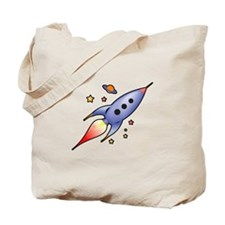 Rocket Spaceship Tote Bag