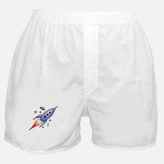 Rocket Spaceship Boxer Shorts