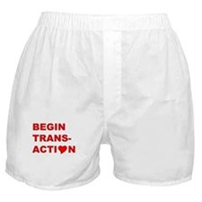 """Begin Transaction"" Boxer Shorts"