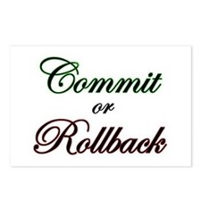 """""""Commit or Rollback"""" Postcards (Package of 8)"""