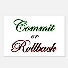 """Commit or Rollback"" Postcards (Package of 8)"
