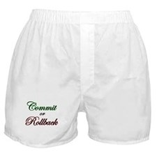 """Commit or Rollback"" Boxer Shorts"