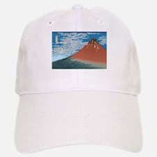Hokusai Red Fuji Baseball Baseball Cap