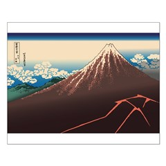 Hokusai Rainstorm Beneath the Summit Posters