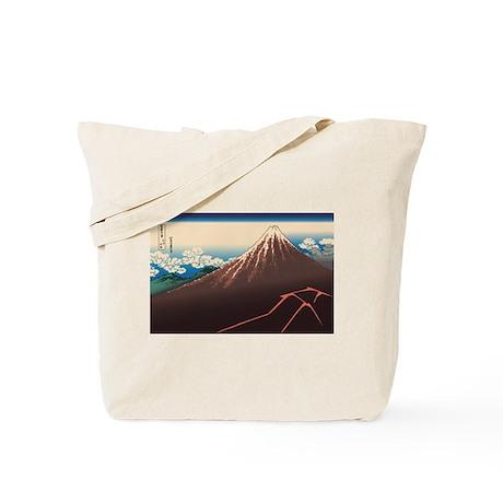 Hokusai Rainstorm Beneath the Summit Tote Bag