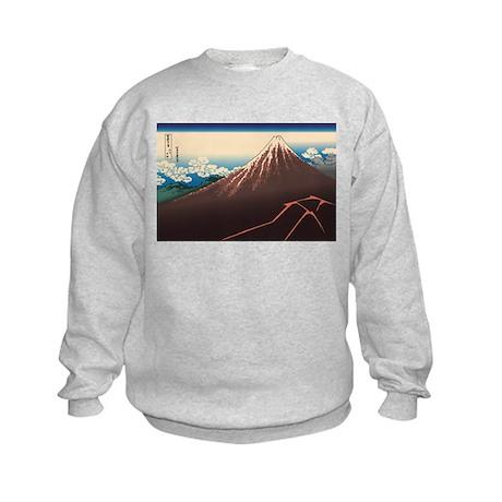 Hokusai Rainstorm Beneath the Summit Kids Sweatshi