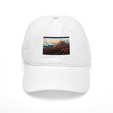 Hokusai Rainstorm Beneath the Summit Baseball Cap