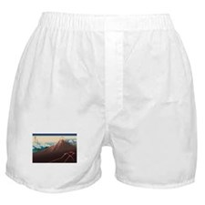Hokusai Rainstorm Beneath the Summit Boxer Shorts
