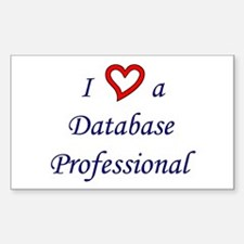 """""""I Love a DB Pro"""" Rectangle Decal"""
