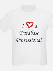 """""""I Love a DB Pro"""" Kids T-Shirt"""