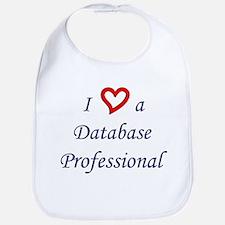 """""""I Love a DB Pro"""" Bib"""
