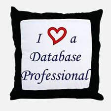 """I Love a DB Pro"" Throw Pillow"