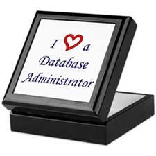 """I Love a DBA"" Keepsake Box"