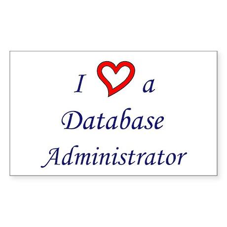 """I Love a DBA"" Rectangle Sticker"