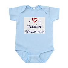 """I Love a DBA"" Infant Creeper"
